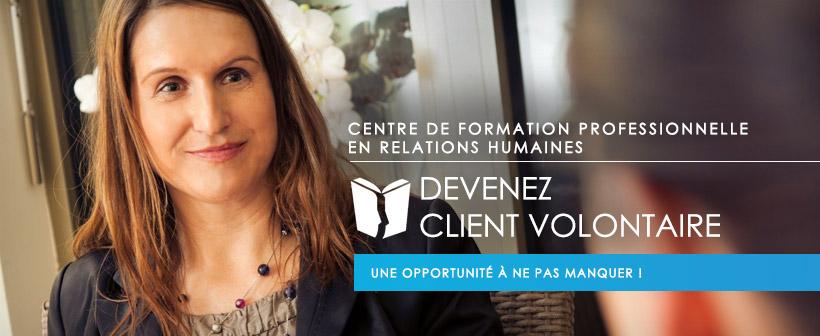 Devenez client volontaire